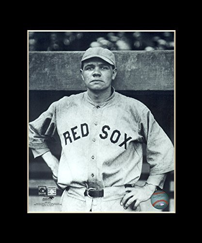 Babe Ruth - New York Yankees Matted 8x10 Licensed Photograph in 11x14 Black Mat