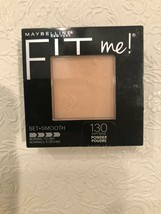 Maybelline Fit Me! Pressed Powder Set Smooth #130 Buff Beige, Normal to Dry; New - $5.89