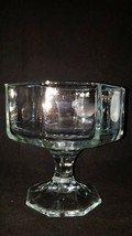 Vintage Indiana Glass Clear Paneled Crystal Candy Compote Pedestal Dish NOS - $6.80