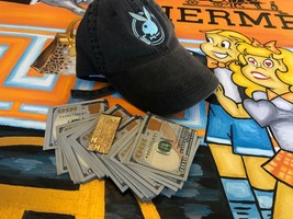HUGH HEFNER PERSONAL PLAYBOY DAD HAT PIRATE GOLD COINS PLAYBOY MEMORABIL... - $1,450.00