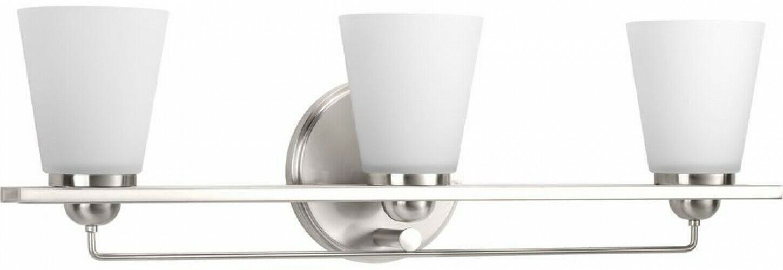 Bathroom Vanity Lighting 26.25 In. W 3-Light Etched Glass