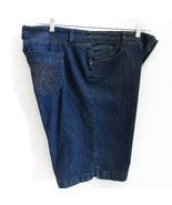 Just My Size 18W JMS Jean Shorts Dark Wash Butterfly Embellished Back Po... - $15.17