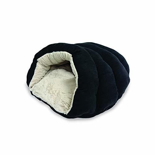 "SPOT Ethical Pets Sleep Zone Cuddle Cave - 22"" Black - Pet Bed for Cats and Smal"