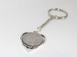 25. geburtstag / jahrestag 5p münze Herzförmige schlusselring 1992 Münze - $10.41