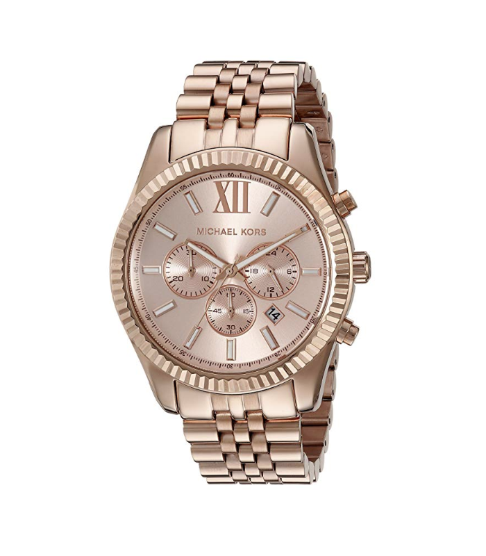 2bf452f8d91e S l1600. S l1600. Previous. New Michael Kors Lexington RoseGold Stainless  Steel Chronograph MK8319 Men Watch
