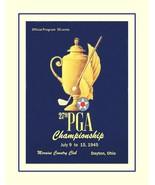 Vintage 1945 PGA Champion Golf Poster, Golfer Wall Art Gift Moraine Coun... - $19.99+