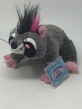 "Ganz Rockerz WebKinz Glam Rock Plush Raccoon HM5109 Gray Stuffed Toy 9"" ... - $13.86"