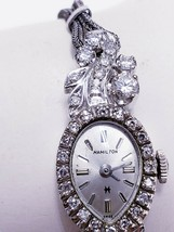 "GORGEOUS DIAMOND & 14KT HAMILTON LADIES WATCH ""NICE"" - $3,217.50"