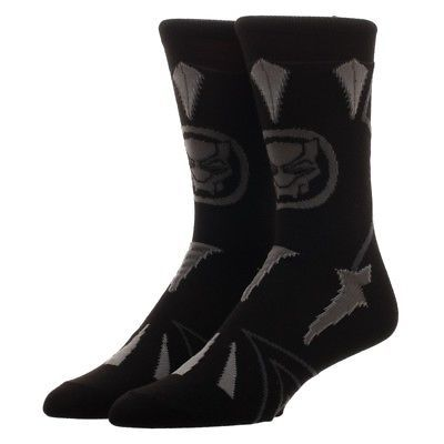 The Black Panther Movie Suit Up Costume Marvel Comics Adult Crew Socks