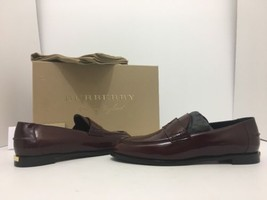 BURBERRY Oban Women's Slip On Loafers Flats Size 35.5 / 5.5 Mahogany Red... - $205.30