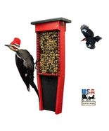 PILEATED WOODPECKER FEEDER - Double Suet Cake Hanger with Tail Prop Amish - $21.00