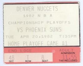 Phoenix Suns @ Denver Nuggets 4/20/82 Ticket Stub! 1982 NBA Playoffs Dan... - $5.04