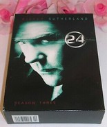 24 Kiefer Sutherland Complete Season Three TV Series Gently Used DVD's 7... - $19.99