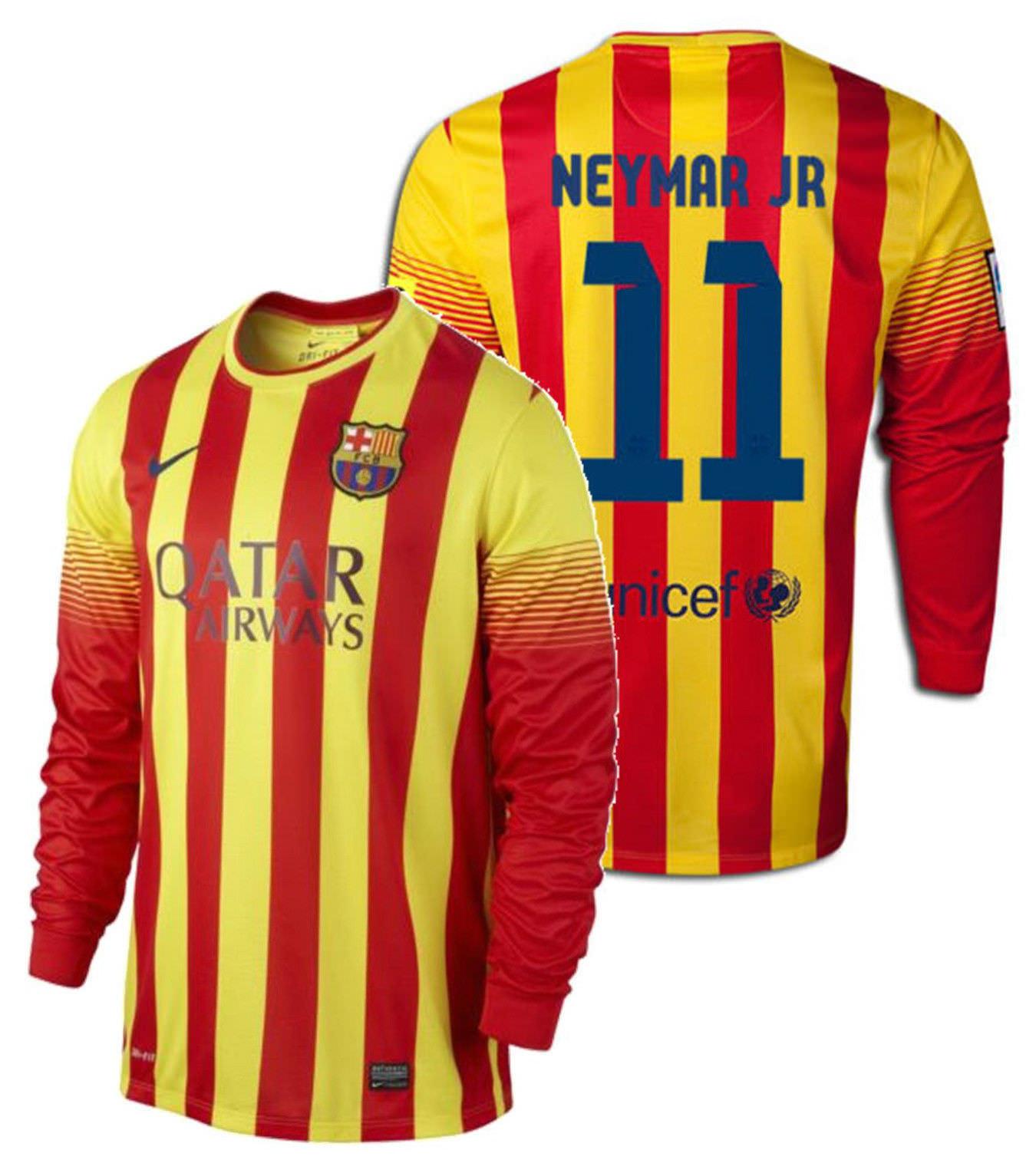 newest 3dd00 21916 Nike Neymar Jr Fc Barcelona Long Sleeve Away and 50 similar ...