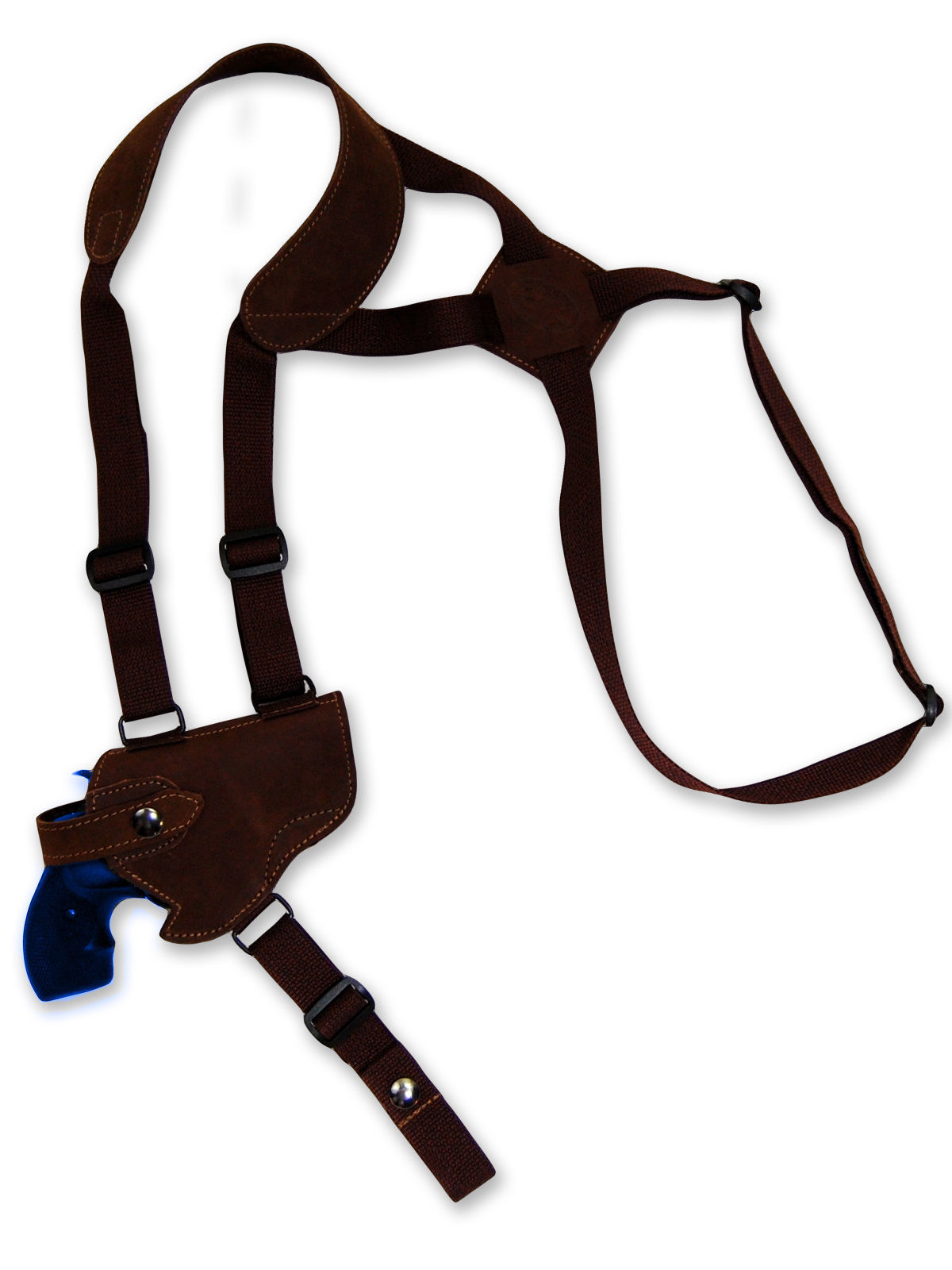 "Primary image for NEW Barsony Brown Leather Horizontal Shoulder Holster Charter Arms 2"" Snub Nose"