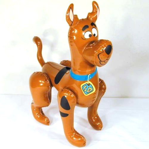 "24"" Inflatable Scooby-Doo Fun Toy With Collar-A Collector's Dream!"