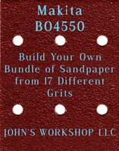 Build Your Own Bundle of Makita BO4550 1/4 Sheet No-Slip Sandpaper - 17 Grits! - $0.99