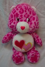 "Care Bears PINK LEOPARD PRINT LOVE-A-LOT BEAR 8"" Plush STUFFED ANIMAL Toy - $14.85"
