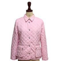 Polo Ralph Lauren Girls Pony Embroidery Quilting Jacket, Pink, M(8-10), ... - $113.84