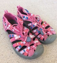 KEEN 1012062 Whisper Raya Honeysuckle Sandals Shoes Youth Girl Size 2 - $18.69