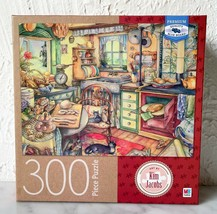 Bread Baking Kim Jacobs Milton Bradley 300 Piece Puzzle Box Easel - Complete - $17.05