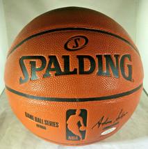 KOBE BRYANT / NBA HALL OF FAME / AUTOGRAPHED NBA LOGO SPALDING BASKETBALL / COA image 4