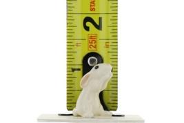 Hagen Renaker Miniature Rabbit Honey Bunny White Ceramic Figurine image 2