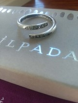 Silpada Bypass CZ Ring .925 Sterling Silver Size 9 - $45.00