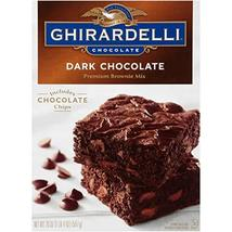 Ghirardelli Dark Chocolate Brownie Mix, 20-Ounce Boxes, Pack of 4 - $39.57