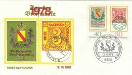 GERMANY 1978 STAMP DAY COVER AND GENDENKBLATT CARD - $7.27