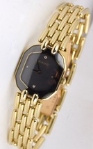 Ladies Rado Quartz 18mm Black Diamond 18K Yellow Gold Watch - $2,493.42
