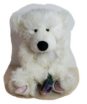 "Animal Adventures White Teddy Bear Purple Ribbon Tie 18"" Long Hair Pink ... - $39.19"