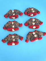 Wholesale Lot of (6) Tiny Knit Sweaters for a Miniature Teddy Bear / Doll - $7.99