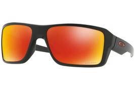 Oakley Double Edge Uomo Occhiali da Sole Quadrato Oo9380-05 Nero/Prisma - $172.57