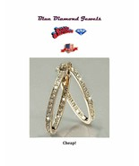 Large 36mm Exciting Oval Hoop Earrings GP Inside/Out HOT LOOK USA SELLER... - $13.95