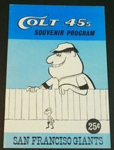 1963 Houston Colt .45s v San Francisco Giants Souvenir Program Unscored NM - $292.05