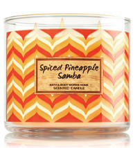 Bath & Body Works Spiced Pineapple Samba Three Wick 14.5 Ounces Scented ... - $22.49
