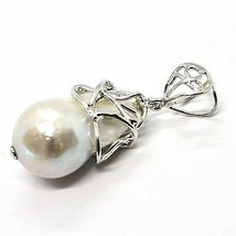 Silver Pendant 925 with Pearl White Fw Handmade Pendant Single image 1
