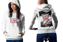 Gym Bodybuilder meme One More Rep Womens White Classic Hoodie - $30.99+