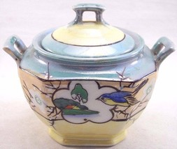 Vintage Takito Moriage Style Lusterware Sugar Bowl with Lid Japan, 20's ... - $21.99