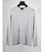 Velvet By Graham & Spencer Mens Gray Sweater V Neck Long Sleeve S  - $24.75