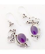 Purple Amethyst 925 Sterling Silver Peacock Earrings, Handmade Jewelry f... - $26.99