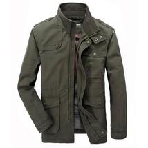 Jacket Men Causal Cotton Windbreaker Long Jackets Mens Military Outwear ... - $80.78