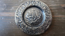 """Antique Silver Repousse Drinking Poker Ashtray 3"""" - $49.49"""