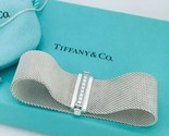 Tiffany & Co Silver and Diamond Somerset Mesh Weave Bracelet
