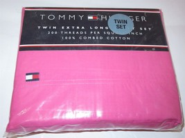 Tommy Hilfiger Pink 3P Twin XL Sheet Set NIP - $37.00