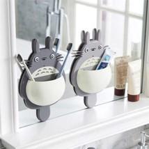 Toothbrush Wall Mount Holder  Totoro Sucker Suction Bathroom Organizer - $5.44