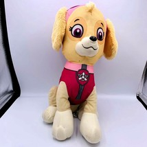 "Paw Patrol Sky Dog Plush Stuffed Animal Pink and Tan Sitting 13"" Tall Toy Puppy  - $13.85"