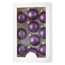 Darice Boxed Christmas Ornaments: Matte Purple, 1.77 inches, 10 pieces w - $11.99