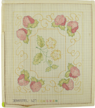 "Vintage 70s Jean Etiel Palm Beach Hand Painted ""627"" Pink Dream Strawber... - $28.35"